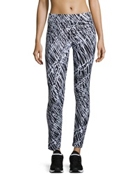 Marc Ny Performance Abstract Print Activewear Leggings Wht Cardio