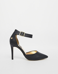 Blink Ankle Strap Heeled Shoes Black