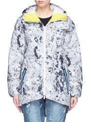 Burton X L.A.M.B. 'Bolan' Paint Crackle Print Down Ski Jacket Multi Colour