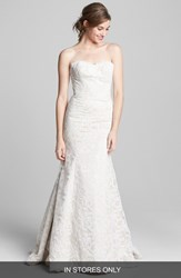 Hayley Paige Women's 'Cricket' Lace Trumpet Dress Ivory Champagne
