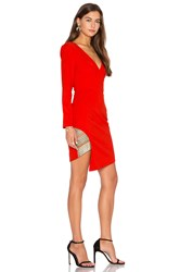 Lumier Between The Lines Long Sleeve Dress Orange