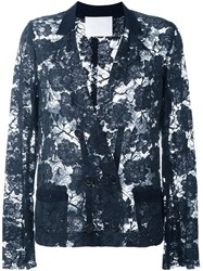 Lanvin Vintage Lace Jacket Blue