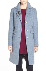 Women's Eliza J Embellished Boucle Reefer Coat