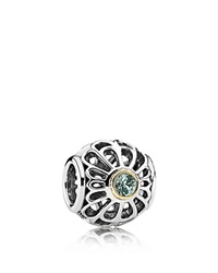 Pandora Design Pandora Charm Sterling Silver And 14K Gold Vintage Allure Moments Collection Silver Green