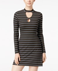 Material Girl Juniors' Ribbed Striped Dress Only At Macy's Black