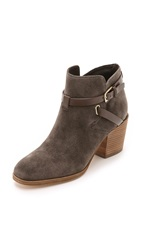 Belle By Sigerson Morrison Genia Suede Booties Dark Grey