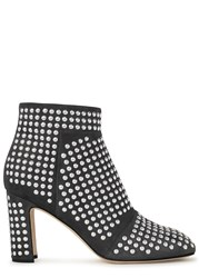 Christopher Kane Studded Grey Suede Ankle Boots