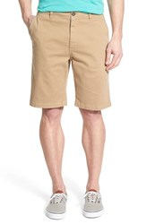 Men's Jack O'neill 'Flagship' Regular Fit Flat Front Chino Shorts Khaki