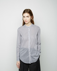 3.1 Phillip Lim Mandarin Collar Shirt Black White