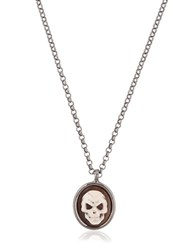 Amedeo Skull Cameo Necklace