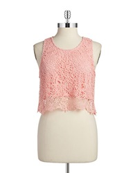 Design Lab Lord And Taylor Crocheted Crop Top