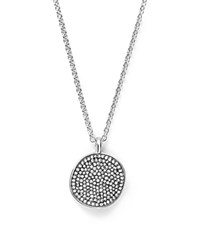 Ippolita Sterling Silver Glamazon Stardust Small Pave Disc Necklace With Diamonds 16 100 Bloomingdale's Exclusive White Silver