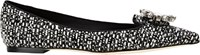 Dolce And Gabbana Jeweled Paillette Flats Black