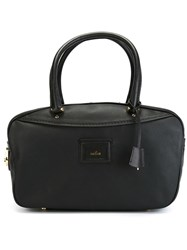 Hogan Rectangular Zipped Tote Black