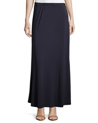 Joan Vass Flared Maxi Skirt Navy Mariner
