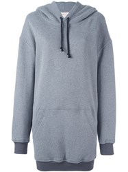 A.F.Vandevorst Long Length Hoodie Grey