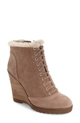 Jessica Simpson Women's Kaelo Wedge Bootie Warm Taupe Suede