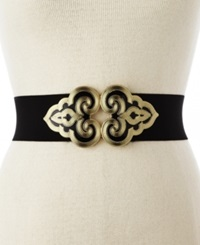 Style And Co. Intricate Buckle Belt Black Gunmetal