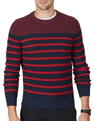 Nautica Breton Striped Sweater Navy