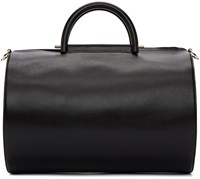 Building Block Black Cylinder Duffle Bag