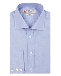 Turnbull And Asser End On End Slim Fit Dress Shirt Blue