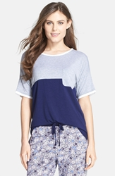 Dkny 'The Novelist' Colorblock Tee Royal Navy