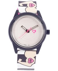 Harajuku Lovers Unisex Solar Emoji Love Strong Strap Watch 40Mm Hl2311
