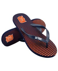 Forever Collectibles Detroit Tigers High End Flip Flops Navy