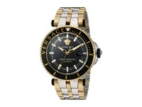 Versace V Race Diver Vak04 0016 Two Tone Stainless Steel Blue Yellow Gold Watches