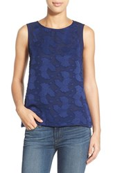 Women's Gibson Embossed Front Sleeveless Top Navy