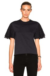See By Chloe Layer Sleeve Top In Blue