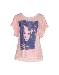 Andy Warhol By Pepe Jeans Topwear T Shirts Women Pink