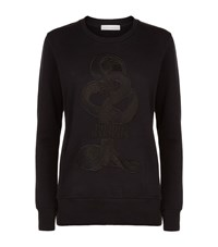 Balmain Pierre Snake Embroidered Sweatshirt Female Black