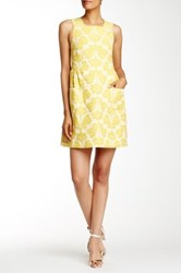 Orla Kiely Floral Jacquard Pinafore Dress Yellow