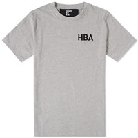 Hood By Air Embroidered Logo Tee Grey
