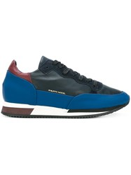 Philippe Model Contrast Panel Sneakers Blue