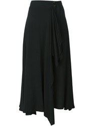 Vintage Ruffle Detail Skirt Black