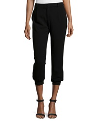 Haute Hippie Cropped Jogger Pants Black