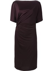 Givenchy Draped Detail Shift Dress Red