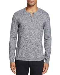 John Varvatos Star Usa Cashmere Blend Henley Sweater Black White