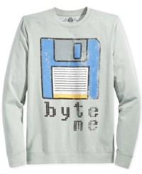 American Rag Men's Graphic Print Sweatshirt Only At Macy's Ar Pewter Heather