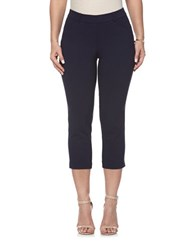 Rafaella Power Stretch Skinny Capri Leggings Navy