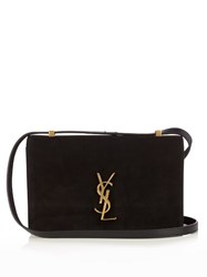 Saint Laurent Dylan Suede Cross Body Bag Black
