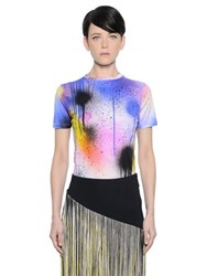 Christopher Kane Spray Paint Print Stretch Jersey T Shirt