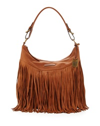 Heidi Leather Fringe Hobo Bag Whiskey Frye