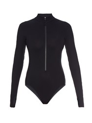 Orlebar Brown Jennifer Zip Up Rash Guard Swimsuit