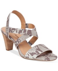 Lucky Brand Pacora Strappy Dress Sandals Women's Shoes Gray Snake