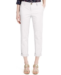 Tommy Hilfiger Straight Leg Rolled Chino Pants Bright White