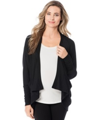 A Pea In The Pod Maternity French Terry Open Front Cardigan Black