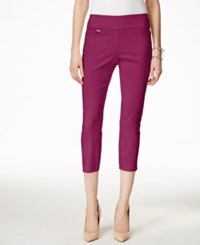 Alfani Tummy Control Pull On Capri Pants Only At Macy's Iris Glow